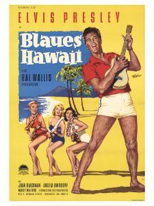 Blue Hawaii, German Movie Poster, 1961