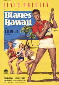 Blue Hawaii, German Movie Poster, 1961