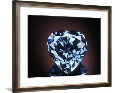 Blue Heart Diamond--Framed Photographic Print