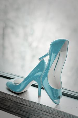 Blue Heels-Erin Berzel-Framed Art Print