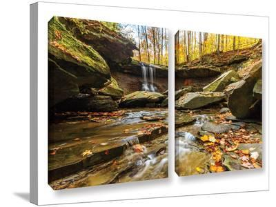 Blue Hen Falls 3, 2 Piece Gallery-Wrapped Canvas Set-Cody York-Gallery Wrapped Canvas Set