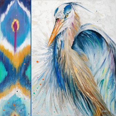 Blue Heron Ikat II-Patricia Pinto-Art Print
