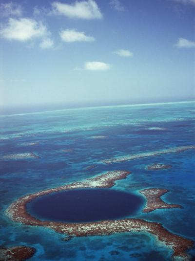 Blue Hole, Lighthouse Reef, Belize, Central America-Upperhall-Photographic Print
