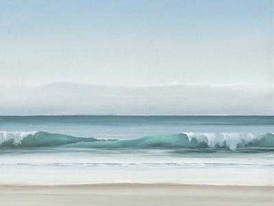 Blue Horizon II-Dawn Reader-Art Print