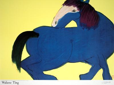 Blue Horse-Walasse Ting-Art Print