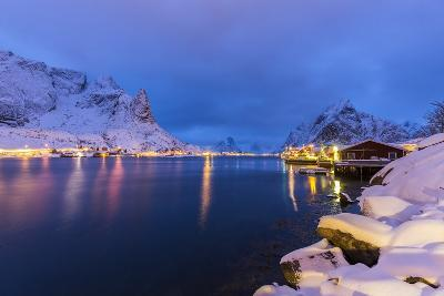 Blue Hour in the Small Bay of Reine-Roberto Moiola-Photographic Print
