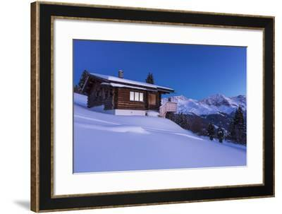 Blue Hour in the Swiss Alps-Armin Mathis-Framed Photographic Print
