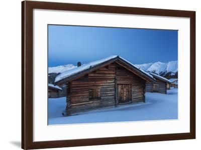 Blue Hour on Wiesner Alp Near Davos-Armin Mathis-Framed Photographic Print