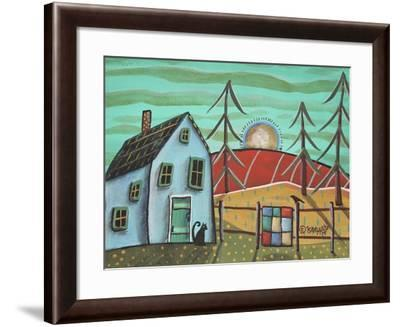 Blue House 1-Karla Gerard-Framed Giclee Print