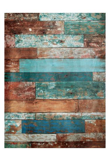 Blue Hues Wood-Jace Grey-Art Print