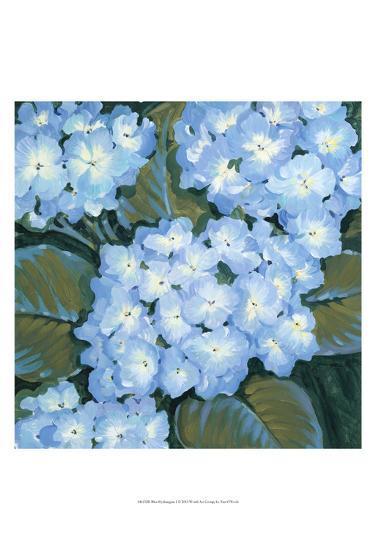 Blue Hydrangeas I-Tim OToole-Art Print