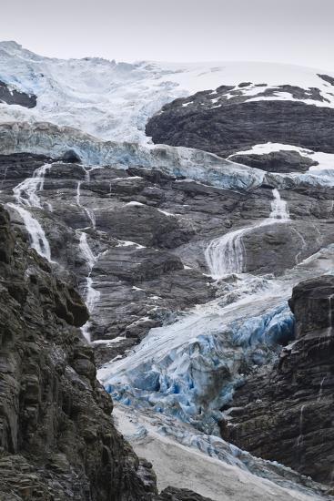 Blue Ice of Kjenndalen Glacier, Jostedalsbreen National Park, Lodal Valley-Eleanor Scriven-Photographic Print