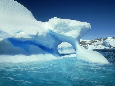 Blue Ice Stripe in Iceberg, Antarctic Peninsula-Rick Price-Photographic Print