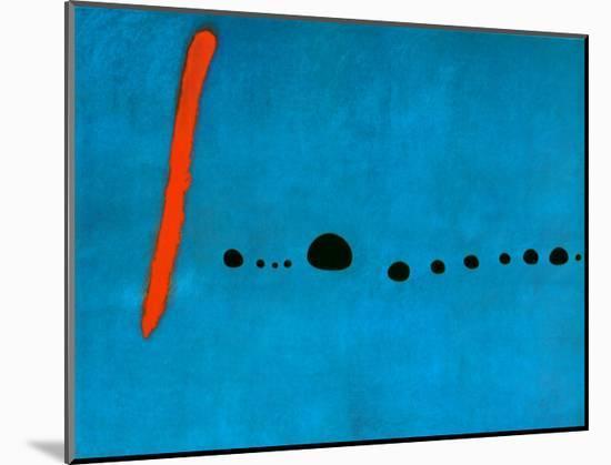 Blue II, c.1961-Joan Miro-Mounted Art Print