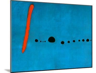 Blue II, c.1961-Joan Mir?-Mounted Print