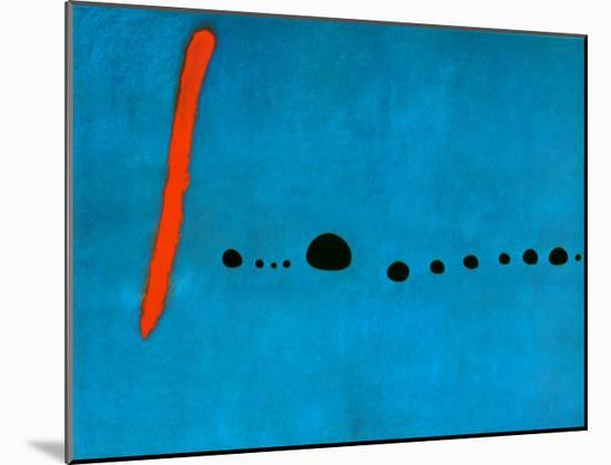 Blue II, c.1961-Joan Miró-Mounted Print