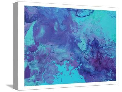 Blue Ink Octopus-Deb McNaughton-Stretched Canvas Print