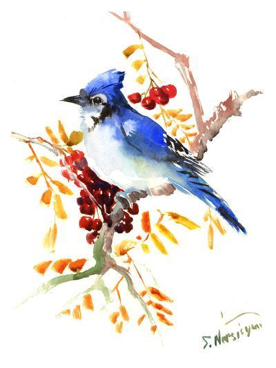 Blue Jay 12-Suren Nersisyan-Art Print