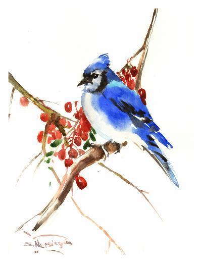 Blue Jay 13-Suren Nersisyan-Art Print