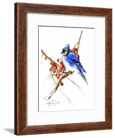 Blue Jay 13-Suren Nersisyan-Framed Art Print