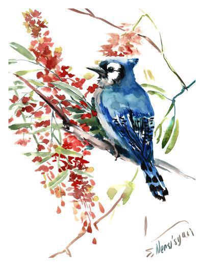 Blue Jay 9-Suren Nersisyan-Art Print