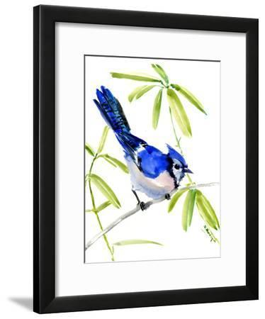 Blue Jay Bird-Suren Nersisyan-Framed Art Print