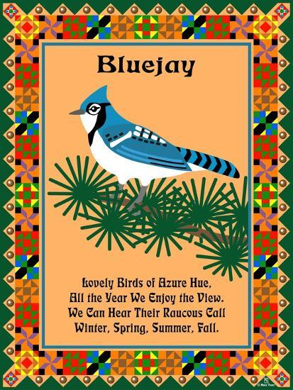 Blue Jay Quilt-Mark Frost-Giclee Print