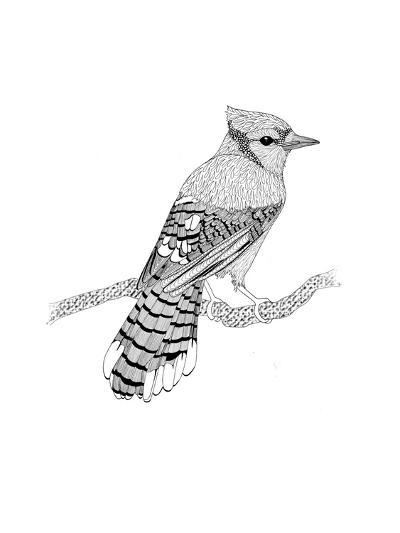 Blue Jay-The Tangled Peacock-Giclee Print