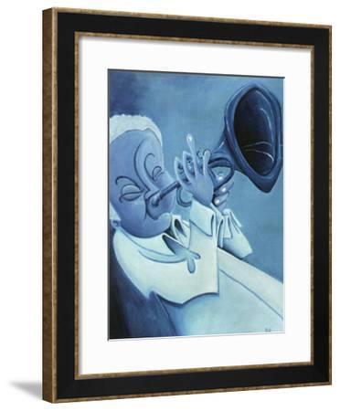 Blue Jazzman I-Patrick Daughton-Framed Art Print