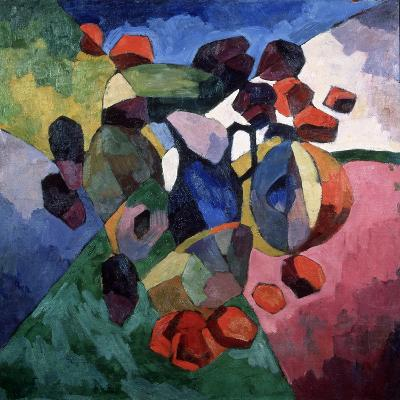 Blue Jug and Fruits, 1913-Aristarkh Vasilyevich Lentulov-Giclee Print