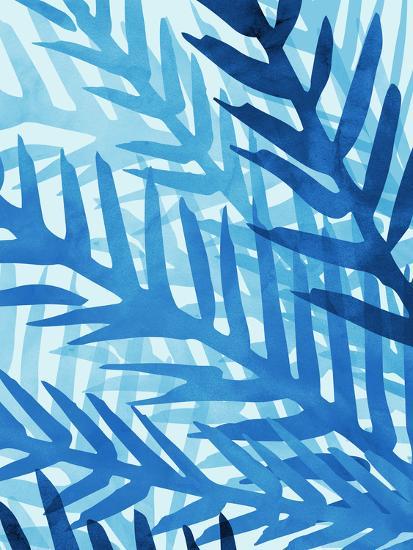 Blue Jungle-Modern Tropical-Art Print