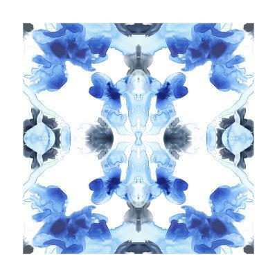 Blue Kaleidoscope IV-June Vess-Art Print