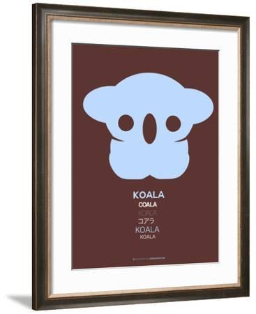 Blue Koala Multilingual Poster-NaxArt-Framed Art Print