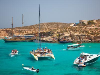 Blue Lagoon, Comino, Malta, Mediterranean, Europe-Billy Stock-Photographic Print