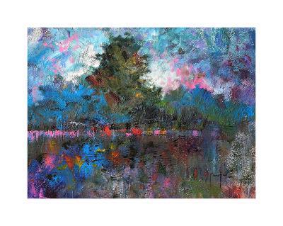 Blue Landscape-Joseph Marshal Foster-Giclee Print