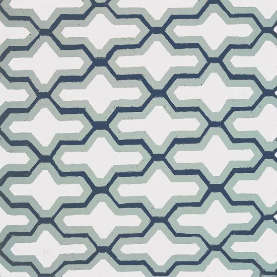 Blue Lattice Pattern II-Lanie Loreth-Premium Giclee Print