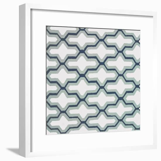 Blue Lattice Pattern II-Lanie Loreth-Framed Premium Giclee Print