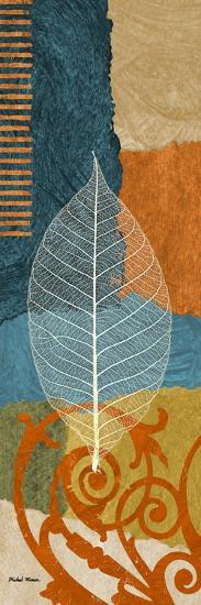 Blue Leaf I-Michael Marcon-Premium Giclee Print