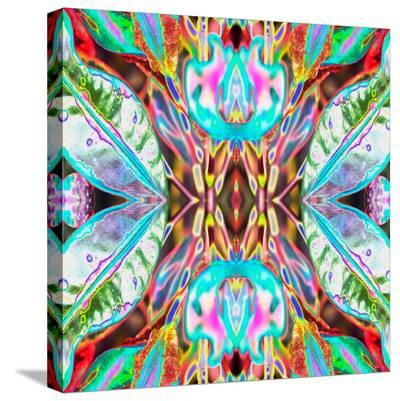 Blue Leaves-Rose Anne Colavito-Stretched Canvas Print