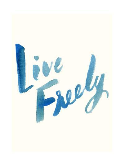 Blue Live Freely-Erin Lin-Premium Giclee Print