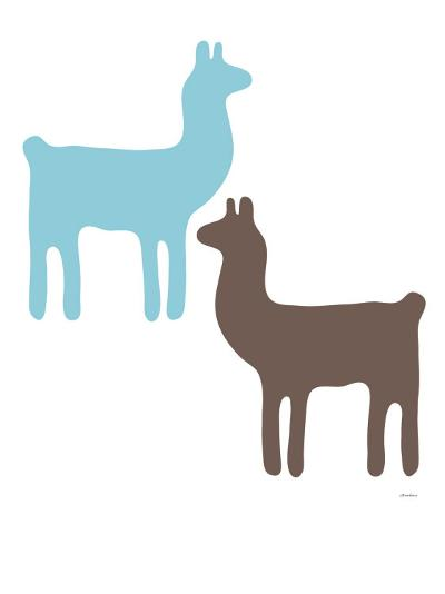 Blue Llama Couple-Avalisa-Art Print