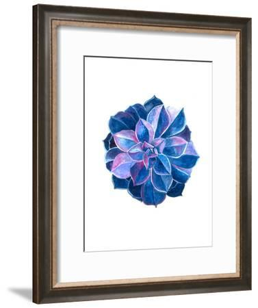 Blue Lotus-T.J. Heiser-Framed Art Print