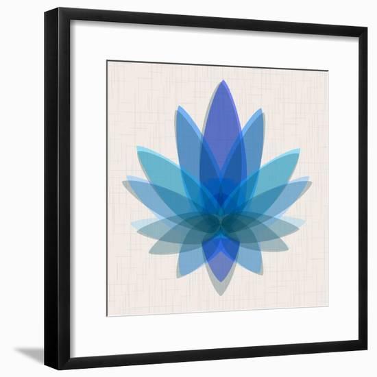 Blue Lotus--Framed Art Print
