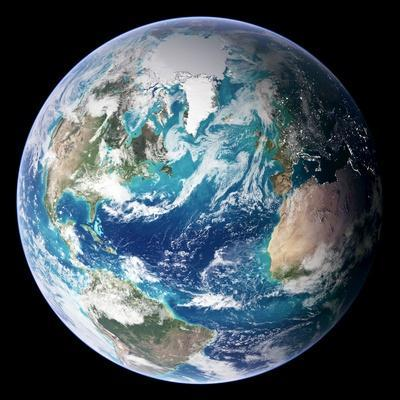 Blue Marble Image of Earth (2005)--Premium Photographic Print