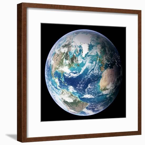 Blue Marble Image of Earth (2005)--Framed Premium Photographic Print