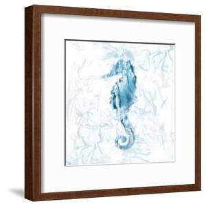 Blue Marble Seahorse