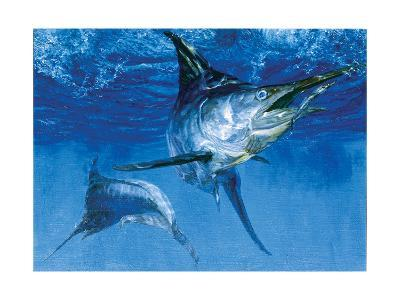 Blue Marlin In: Double Header, 1976-Stanley Meltzoff-Giclee Print