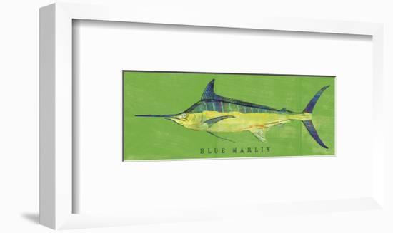 Blue Marlin-John W^ Golden-Framed Art Print