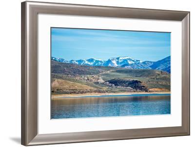 Blue Mesa Reservoir in Gunnison National Forest Colorado-digidreamgrafix-Framed Photographic Print