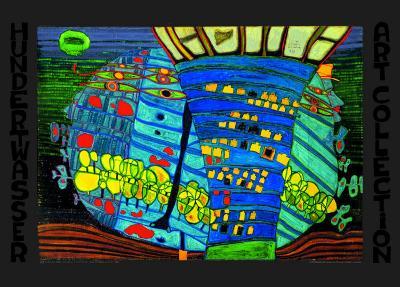 Blue Moon-Friedensreich Hundertwasser-Art Print